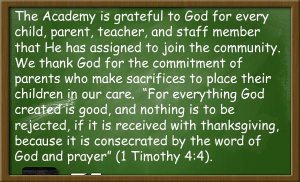 we are grateful to god chalk board image