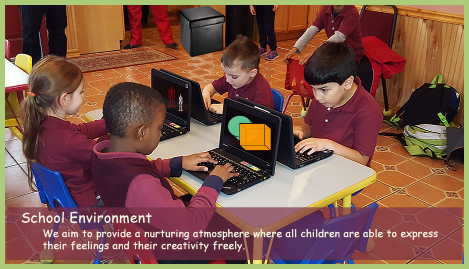 Christian elementary school in New Haven computer class